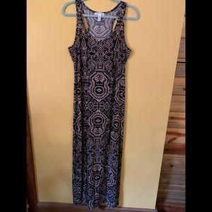 Black and Tan maxi tank dress